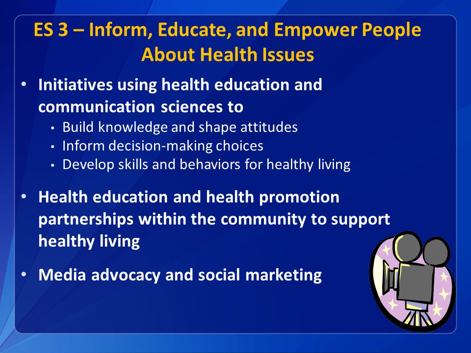 ES 3 – Inform, Educate, and Empower People About Health Issues