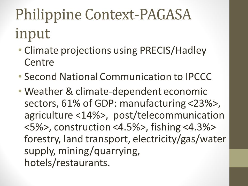 Philippine Context-PAGASA input
