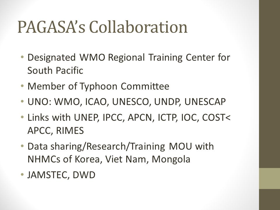 PAGASA's Collaboration