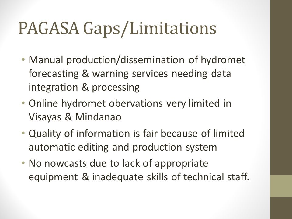 PAGASA Gaps/Limitations
