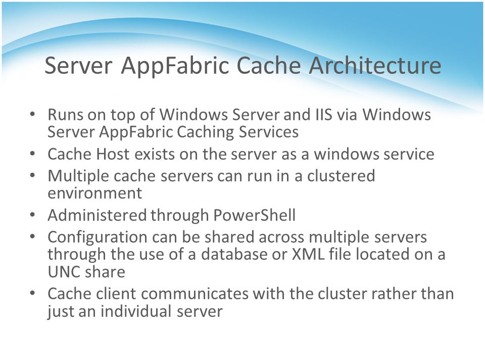 Server AppFabric Cache Architecture
