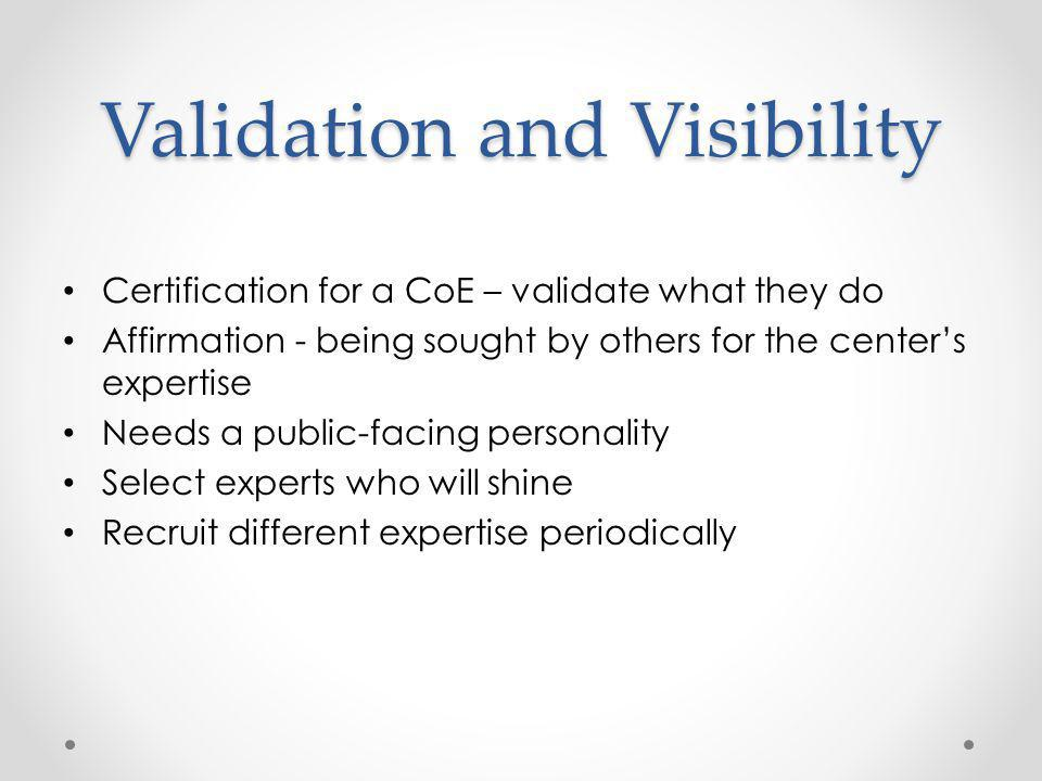 Validation and Visibility