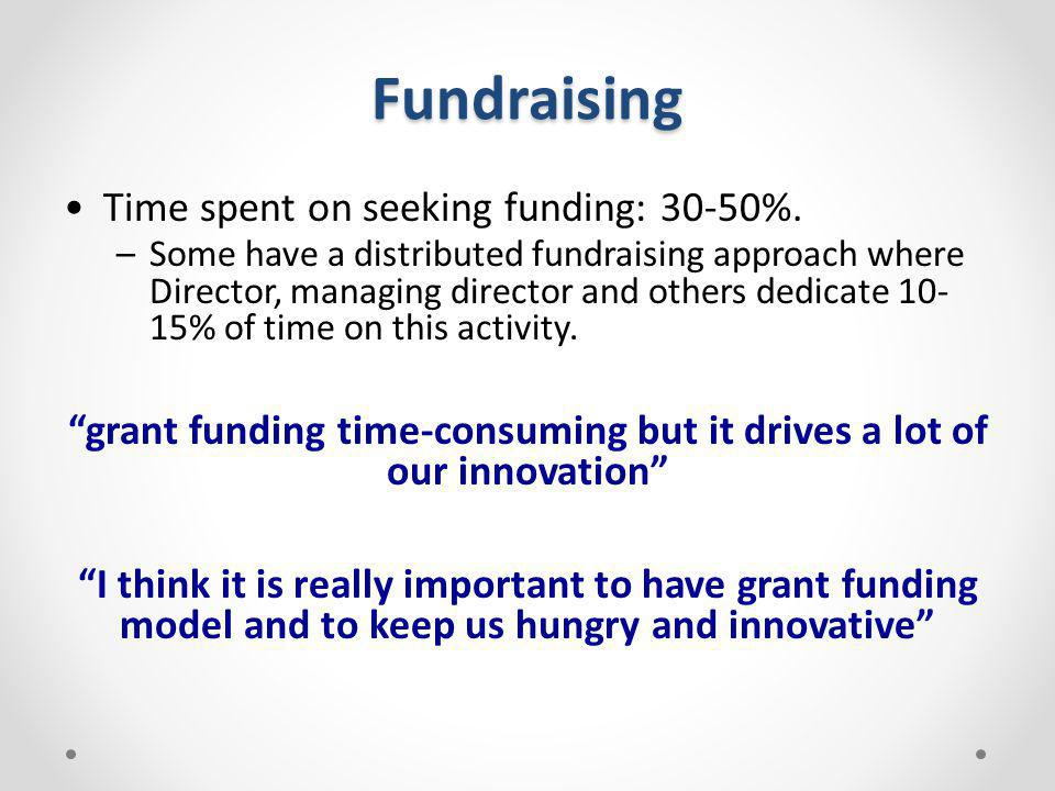 grant funding time-consuming but it drives a lot of our innovation