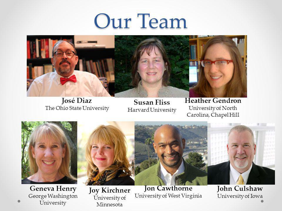 Our Team José Diaz Heather Gendron Susan Fliss Geneva Henry