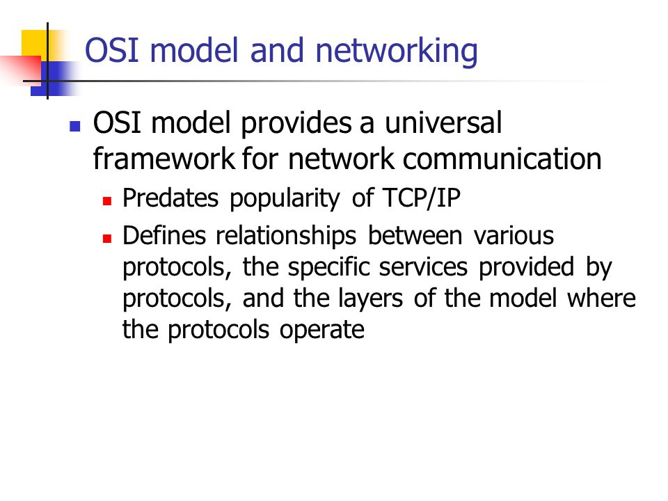 OSI model and networking