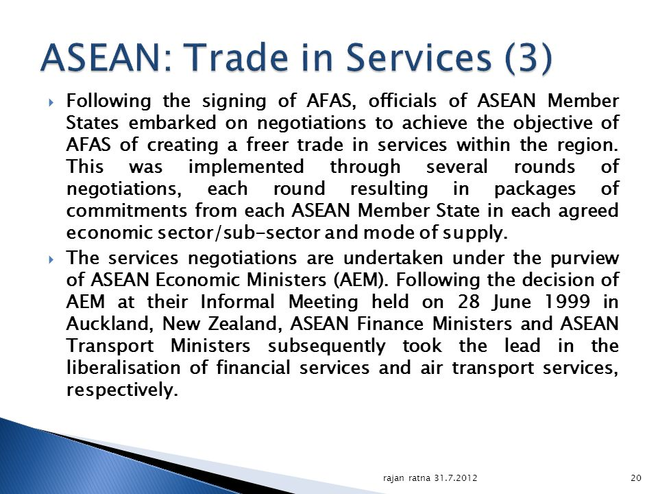 ASEAN: Trade in Services (3)