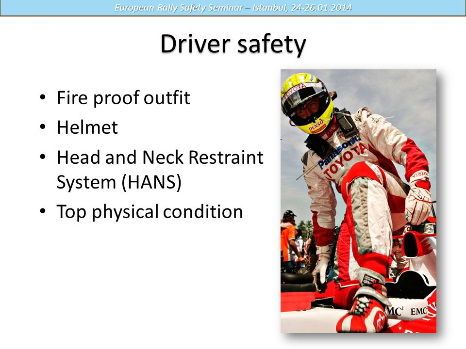 Driver safety Fire proof outfit Helmet