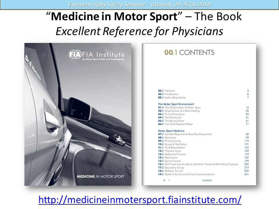 Medicine in Motor Sport – The Book Excellent Reference for Physicians