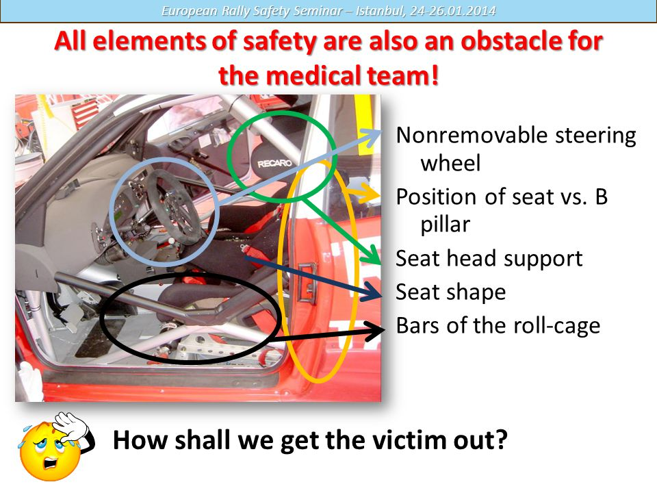 All elements of safety are also an obstacle for the medical team!