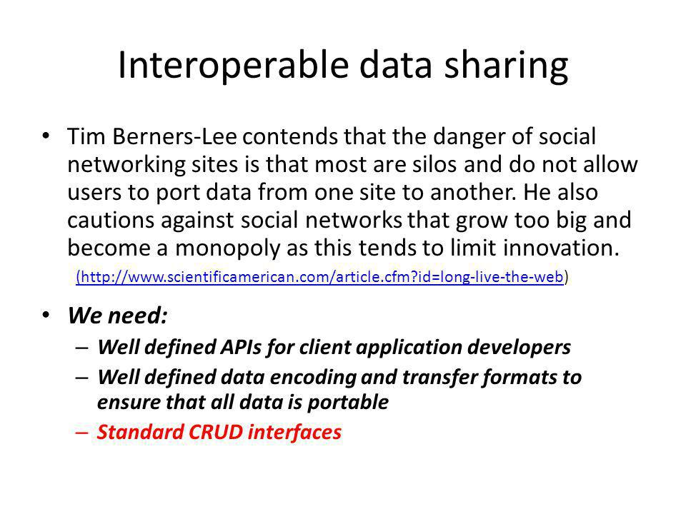 Interoperable data sharing