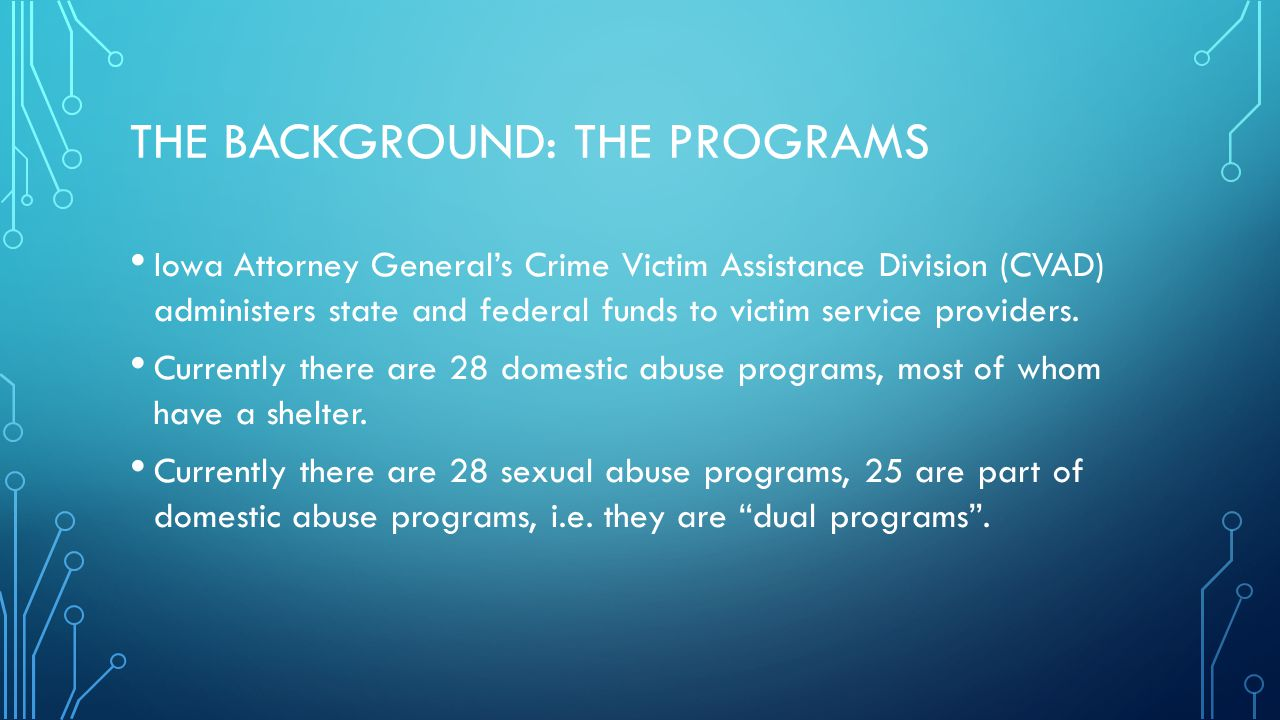 The background: The programs