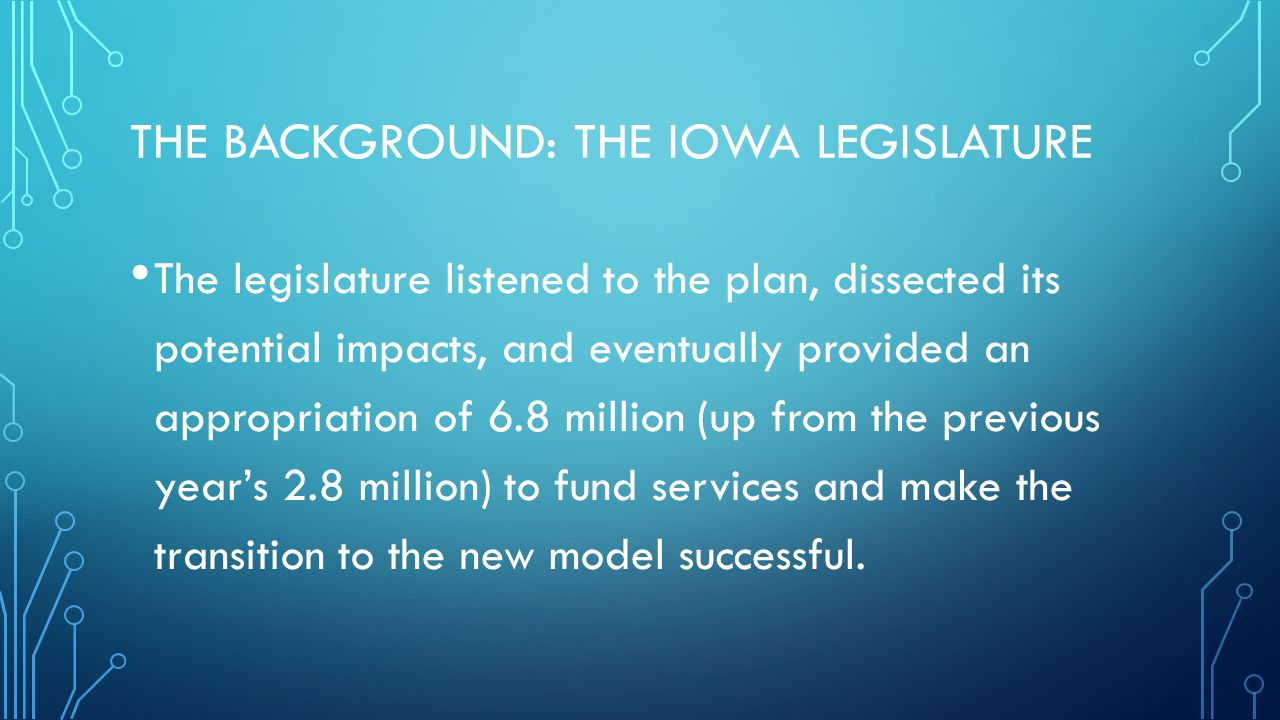 The Background: The Iowa Legislature