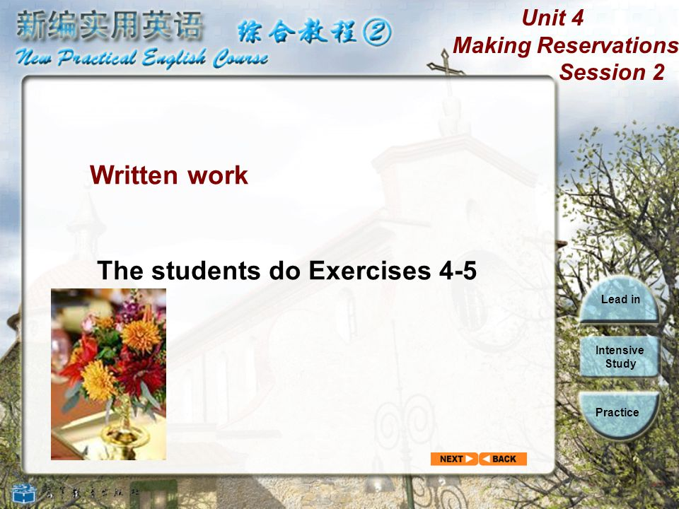 Written work The students do Exercises 4-5