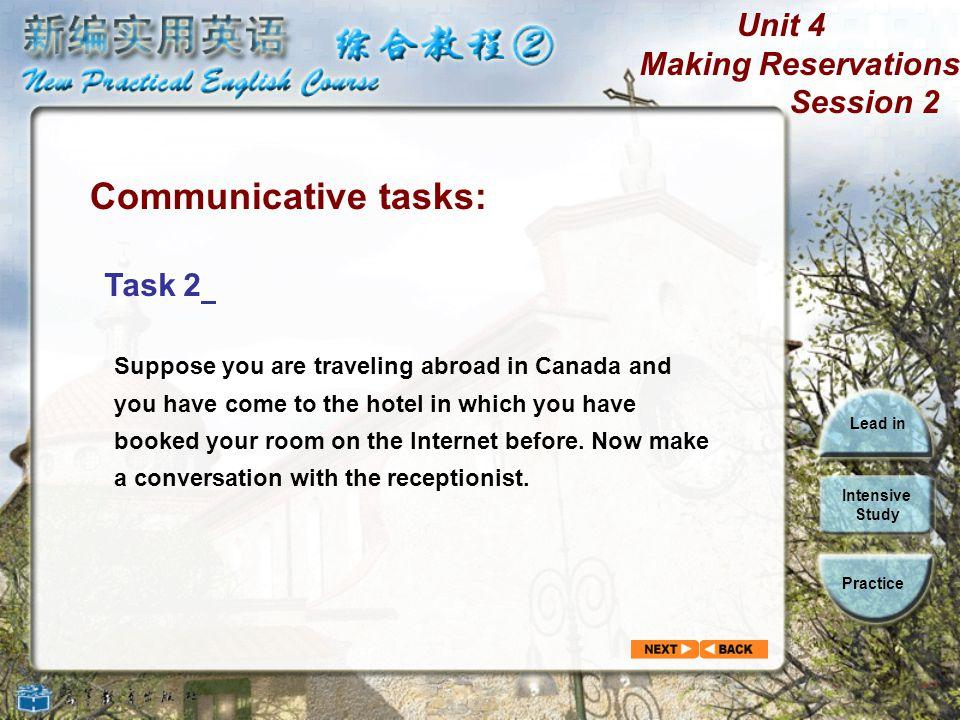 Communicative tasks: Task 2