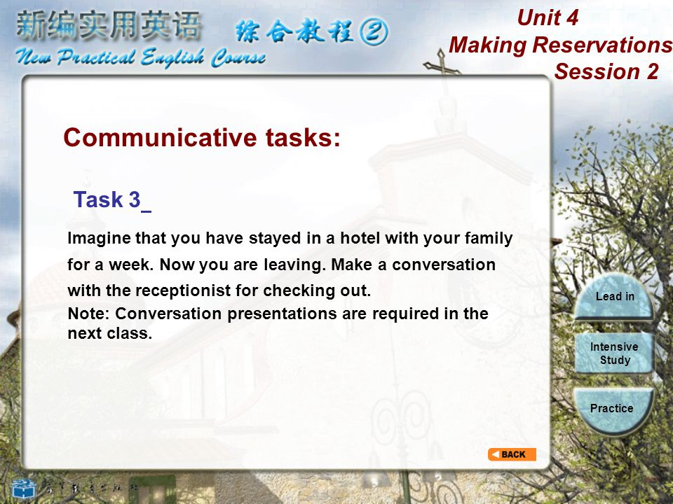 Communicative tasks: Task 3