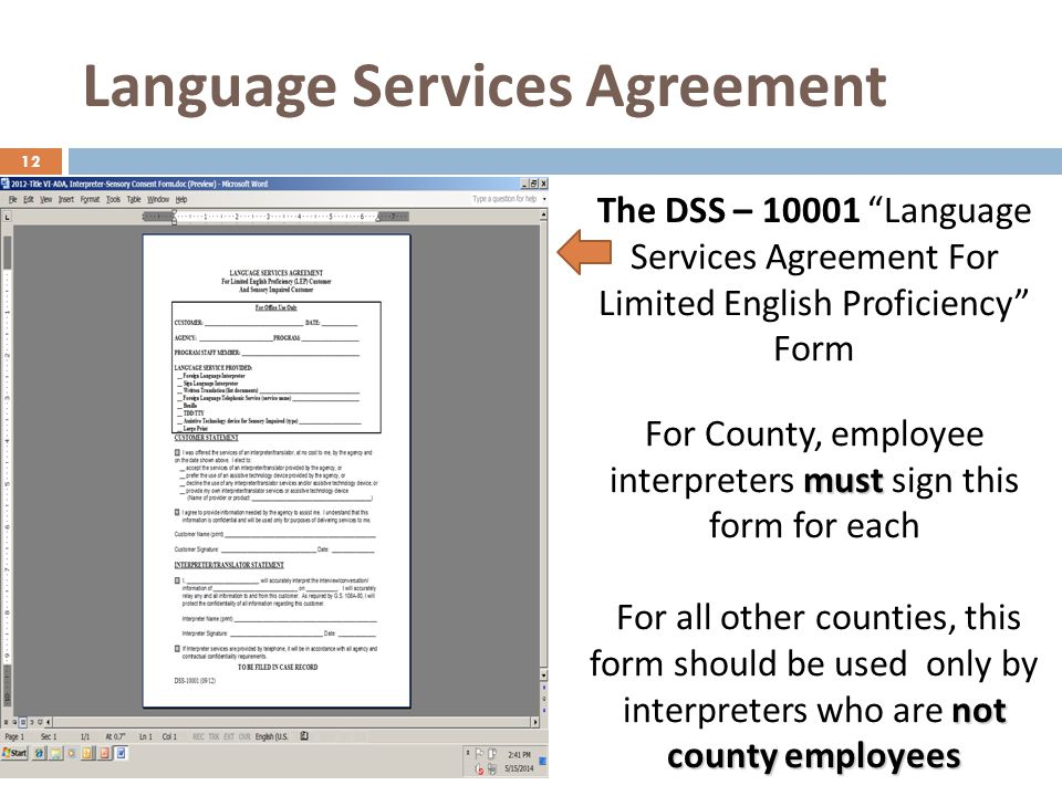 Language Services Agreement