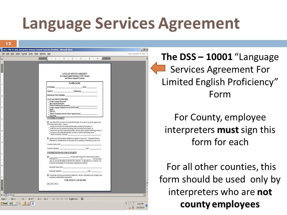 Language Services Agreement