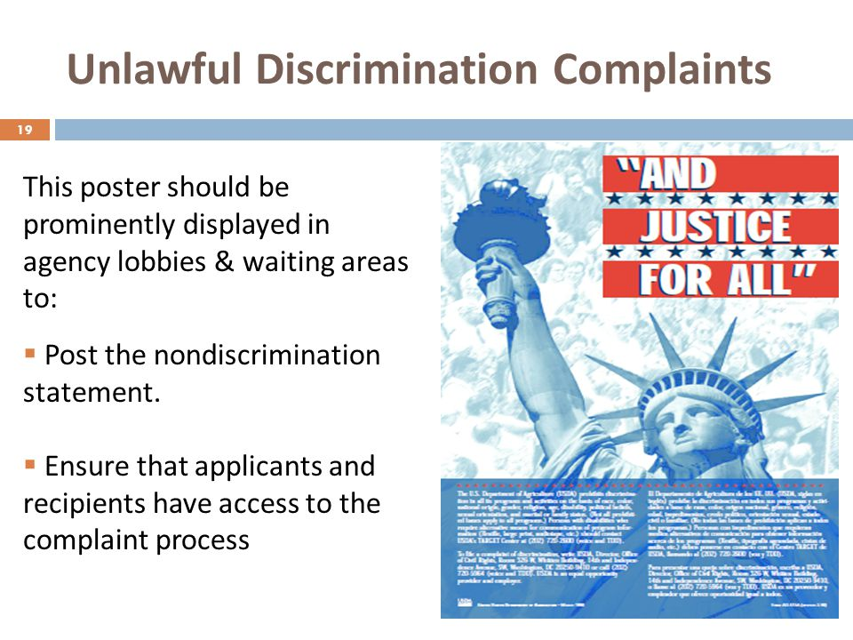 Unlawful Discrimination Complaints