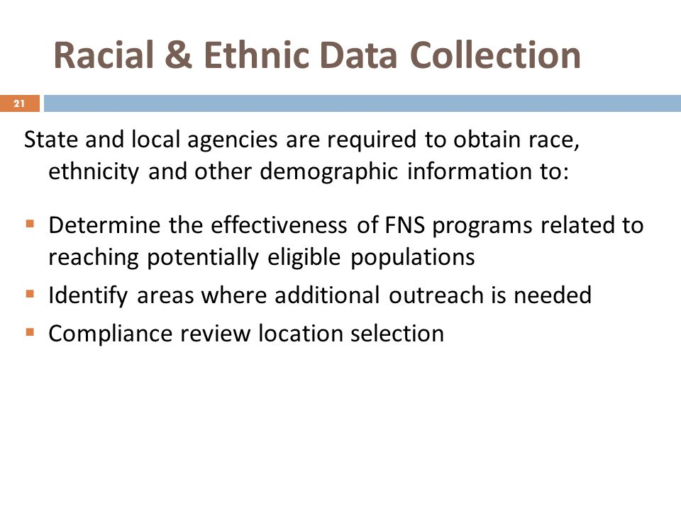 Racial & Ethnic Data Collection
