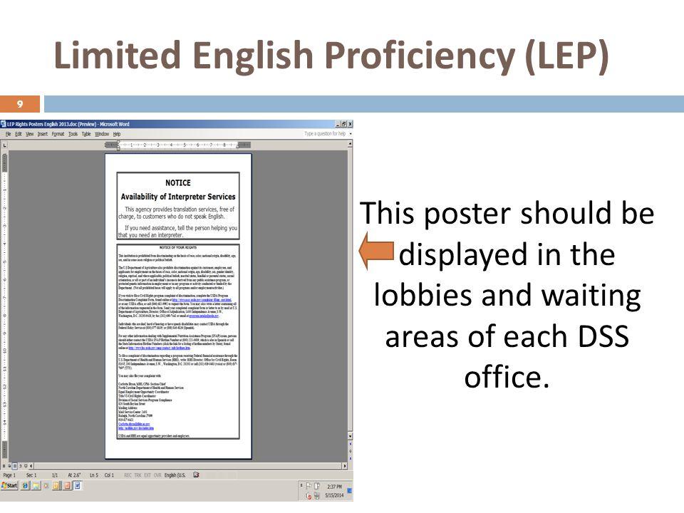 Limited English Proficiency (LEP)