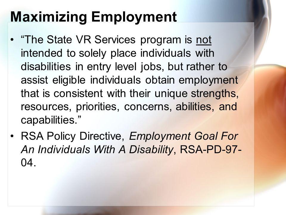 Maximizing Employment