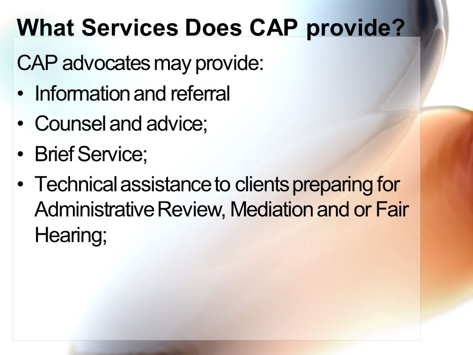 What Services Does CAP provide