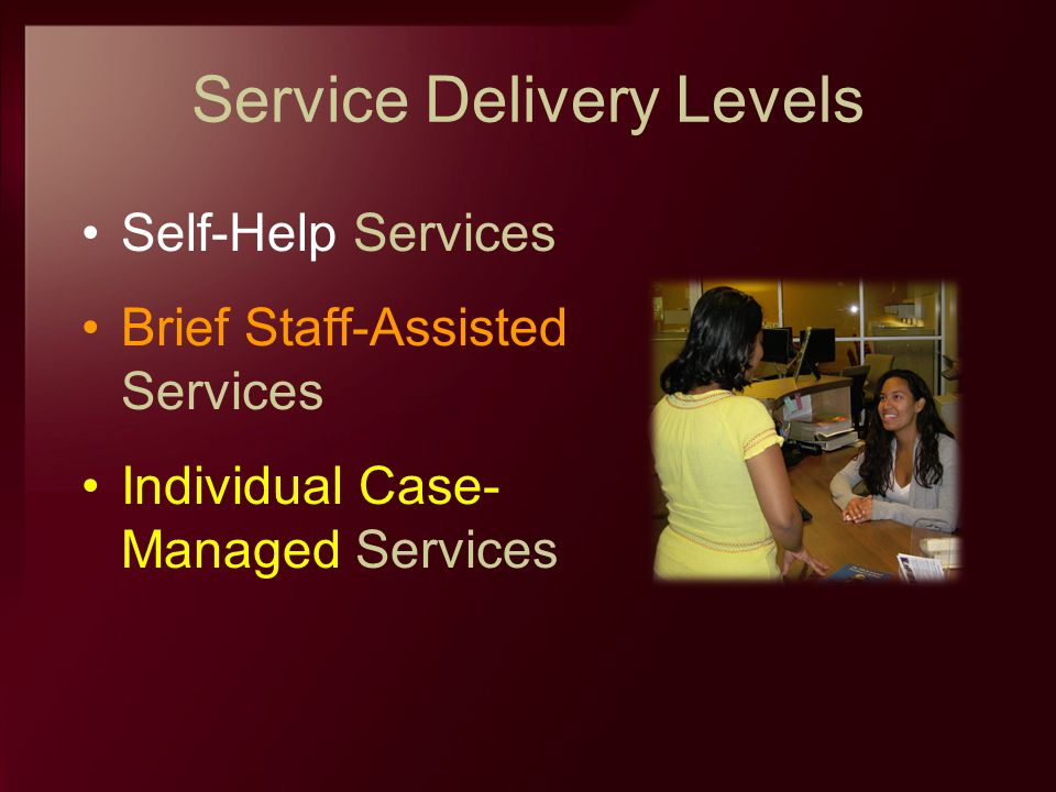Service Delivery Levels