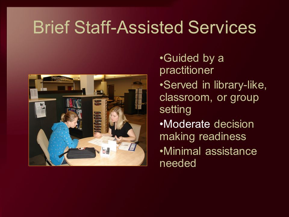 Brief Staff-Assisted Services