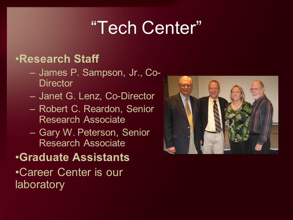 Tech Center Research Staff Graduate Assistants