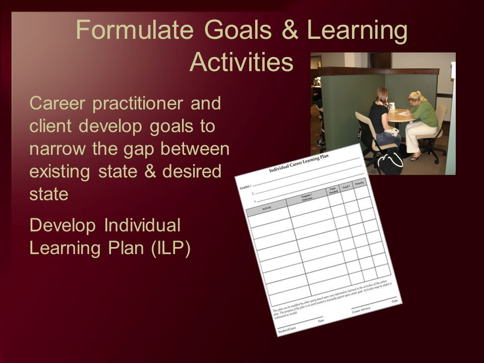 Formulate Goals & Learning Activities
