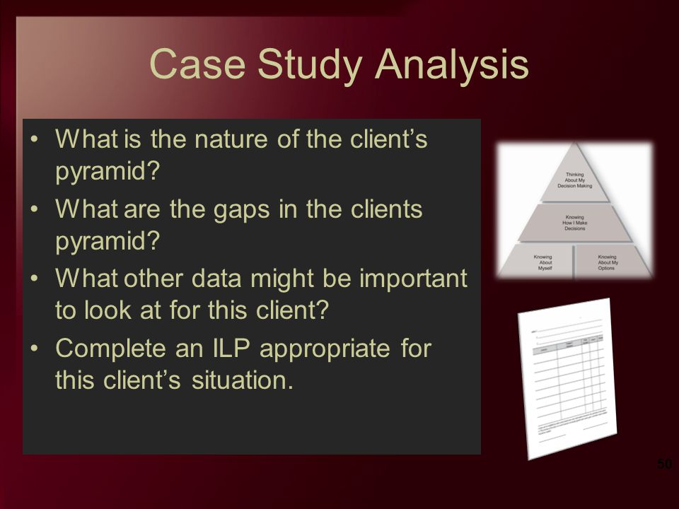 Case Study Analysis What is the nature of the client's pyramid
