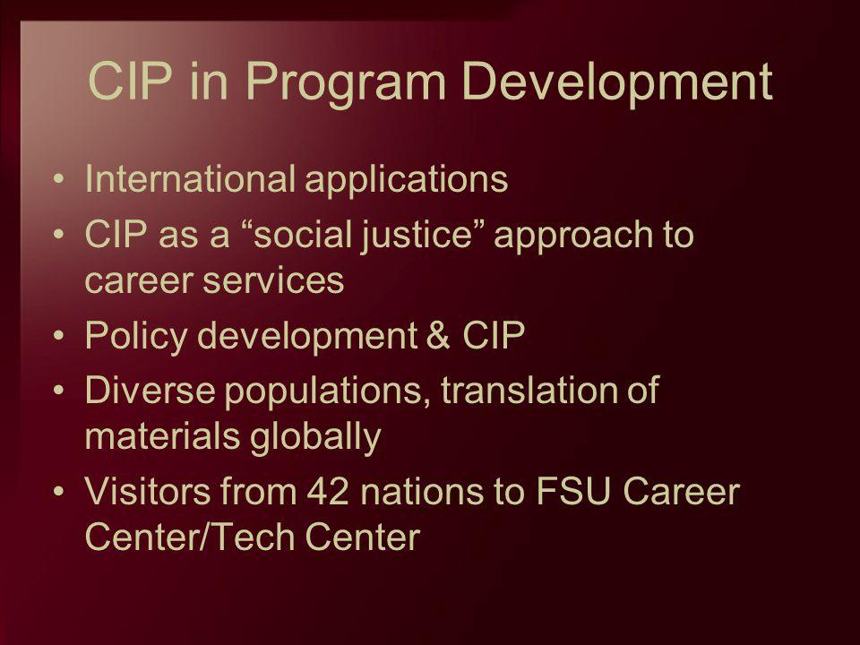 CIP in Program Development