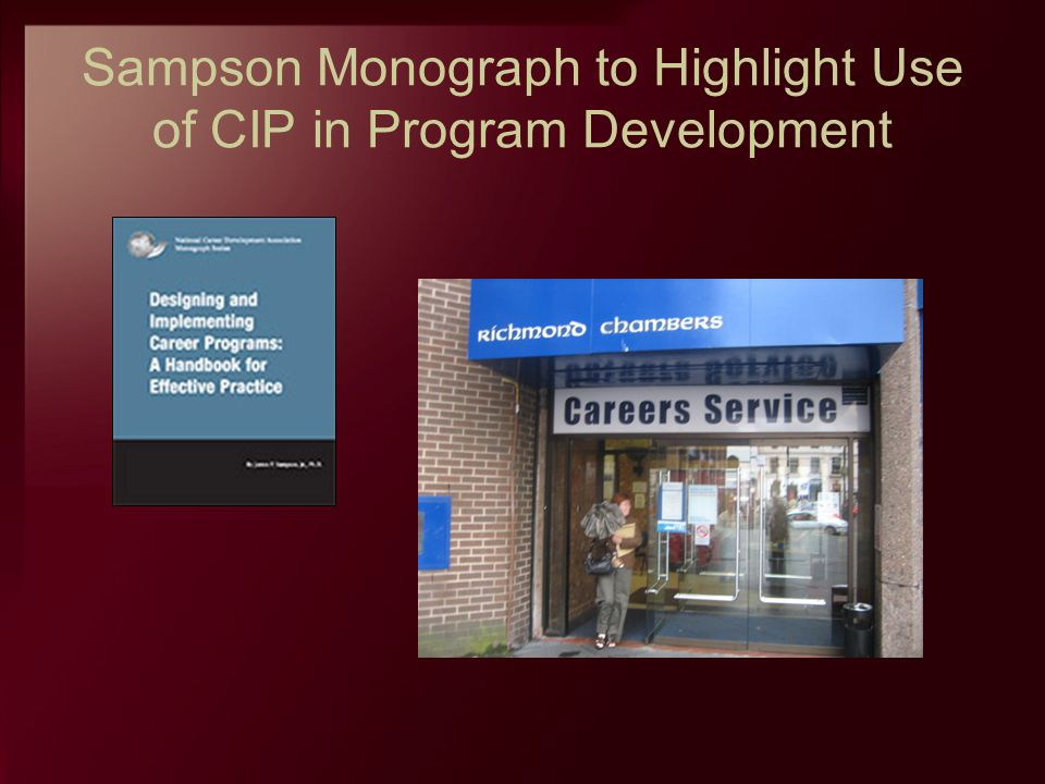 Sampson Monograph to Highlight Use of CIP in Program Development