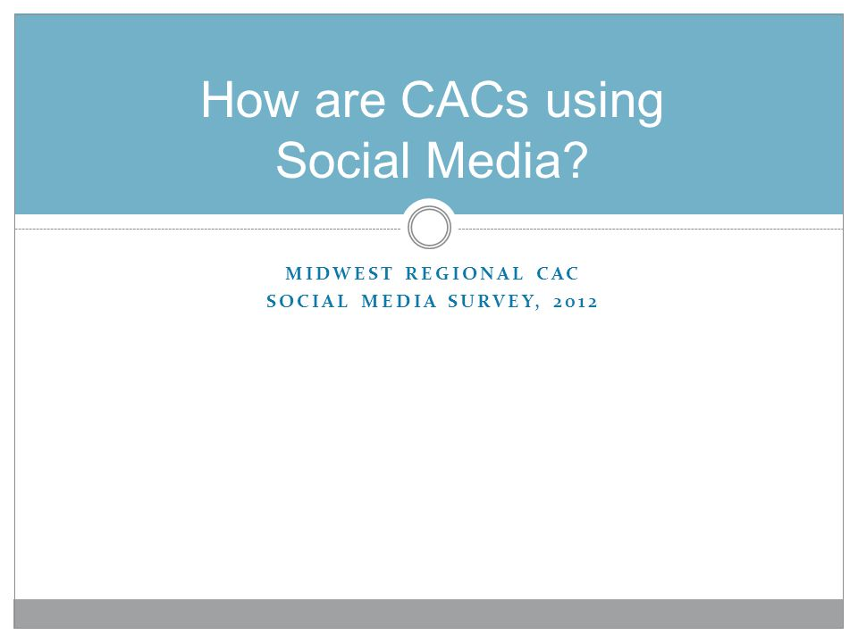 How are CACs using Social Media