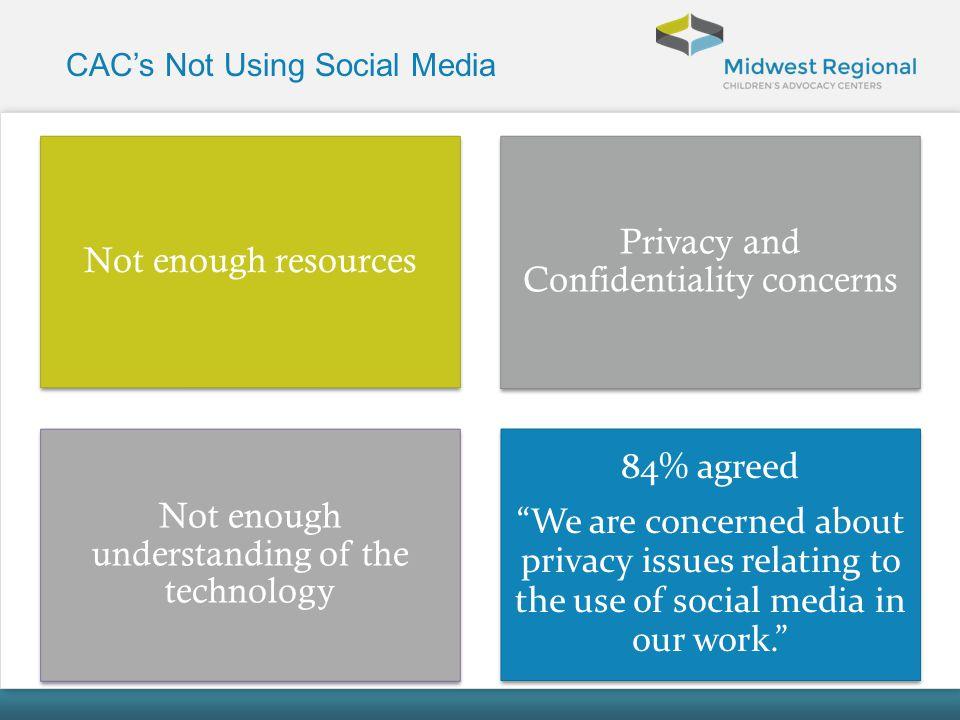 CAC's Not Using Social Media