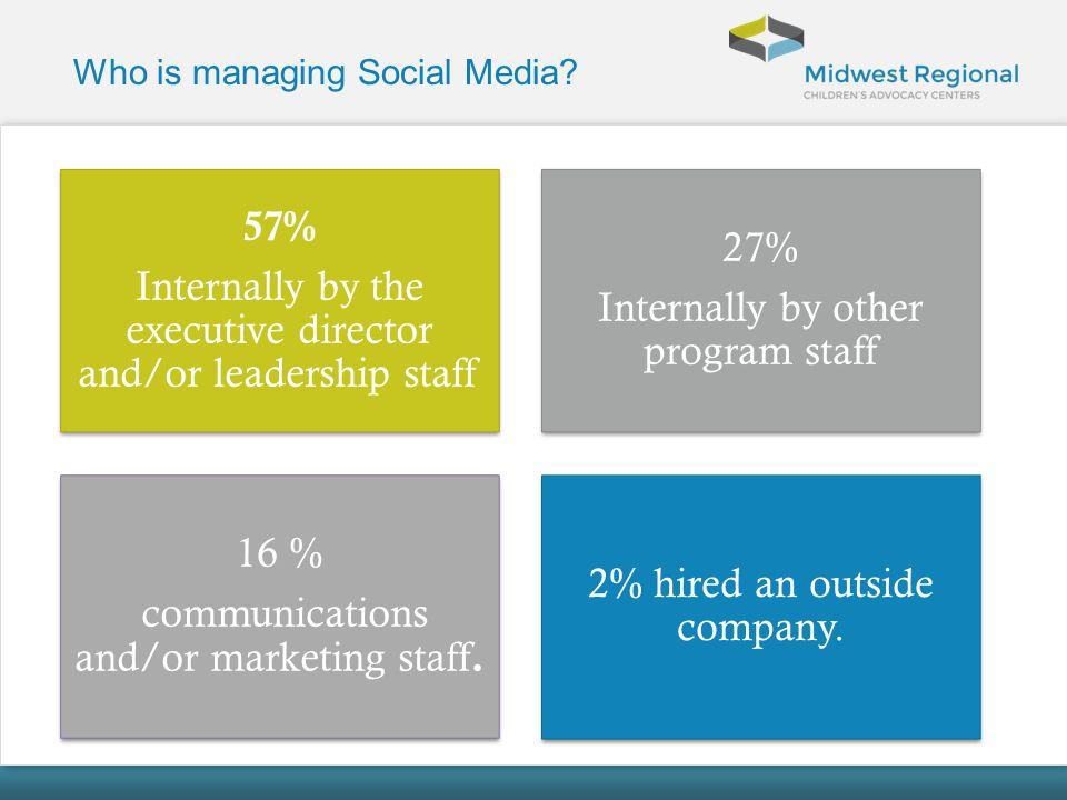Who is managing Social Media