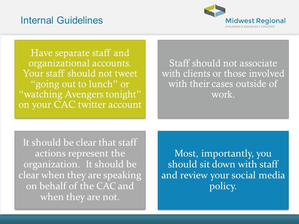 Internal Guidelines