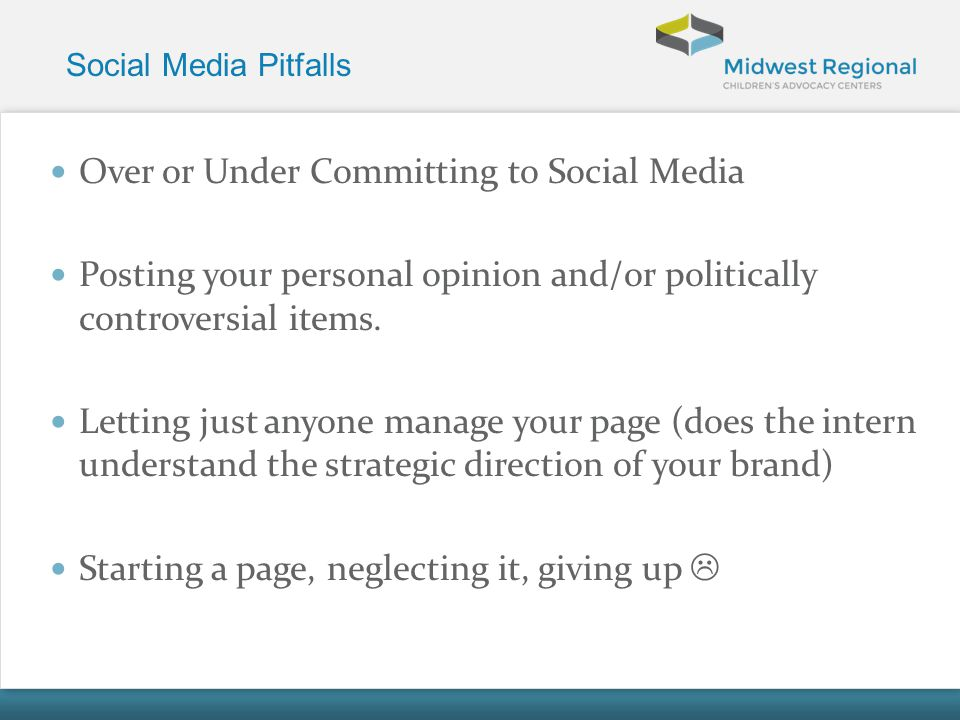 Over or Under Committing to Social Media