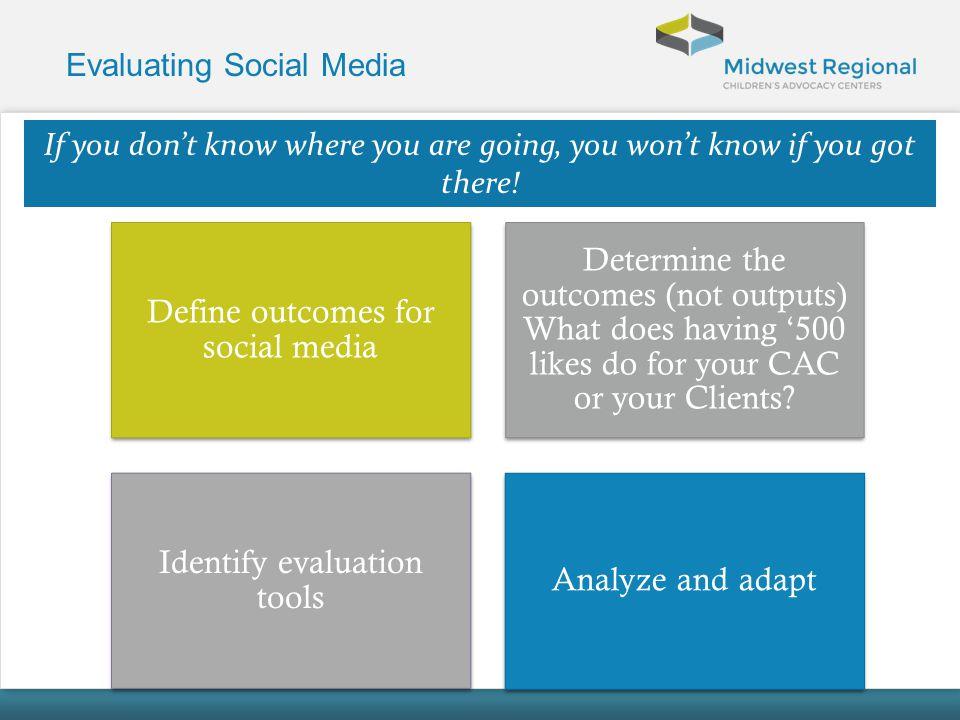 Evaluating Social Media