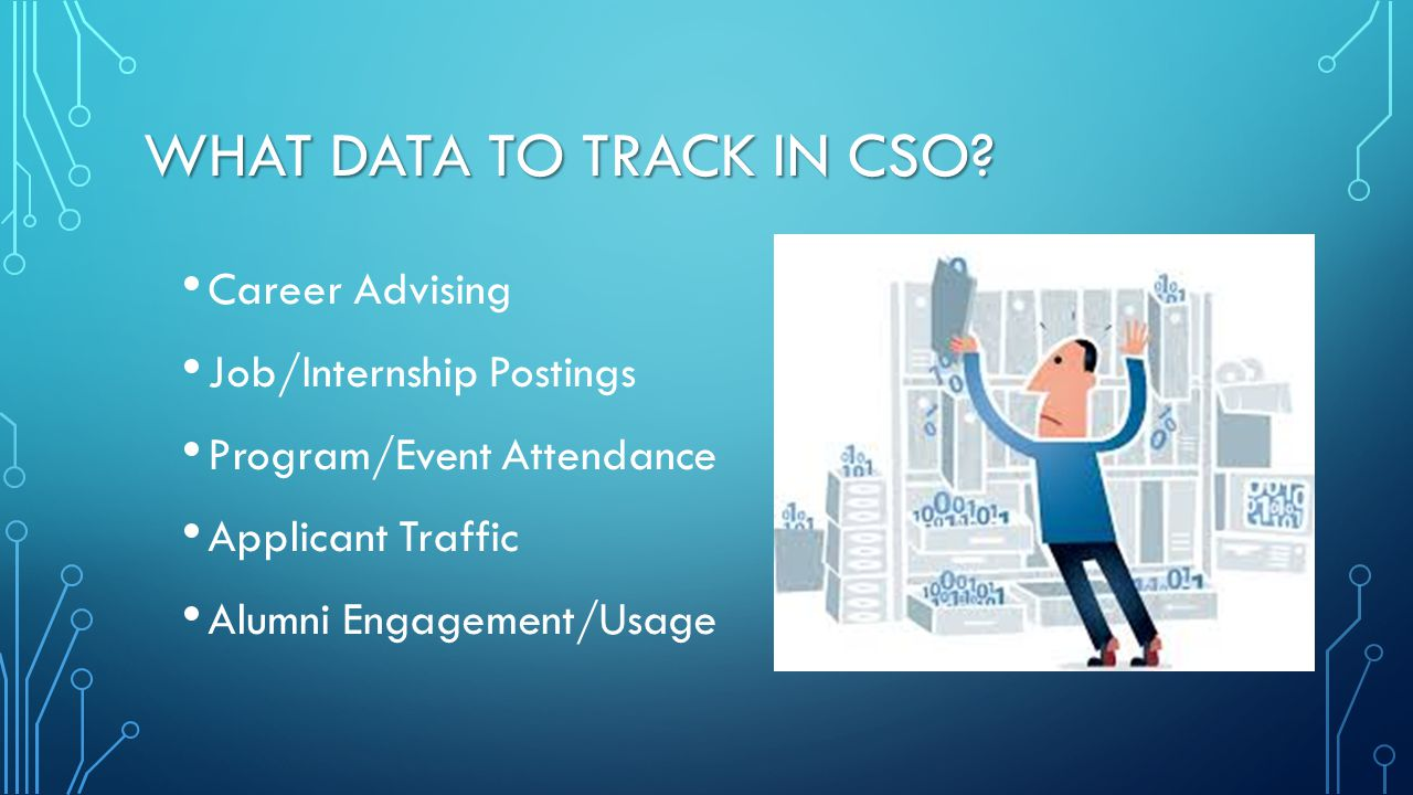 What data to Track in CSO