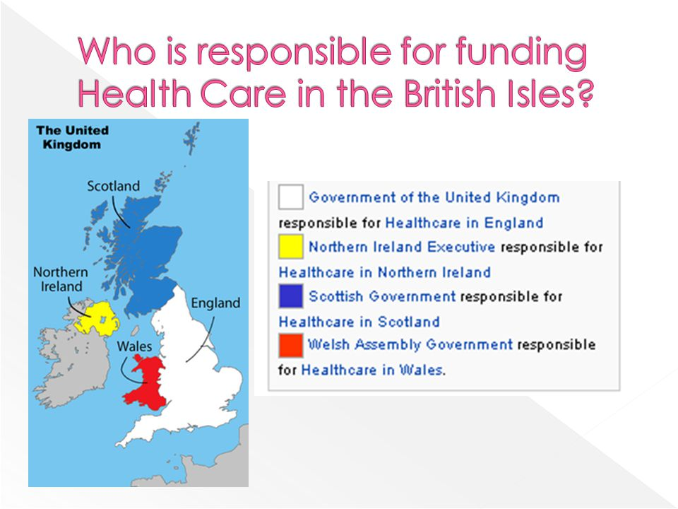 Who is responsible for funding Health Care in the British Isles