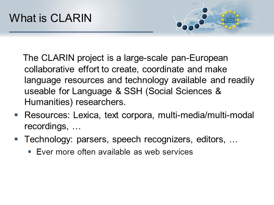 What is CLARIN