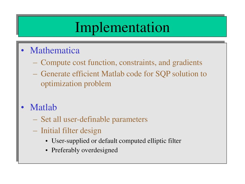 Joint Optimization of Multiple Behavioral and Implementation