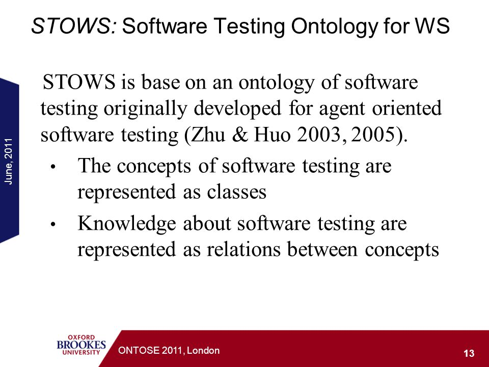 STOWS: Software Testing Ontology for WS