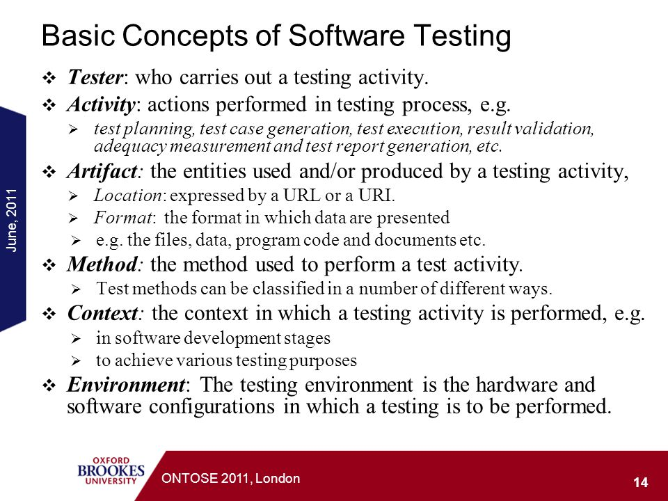 Basic Concepts of Software Testing