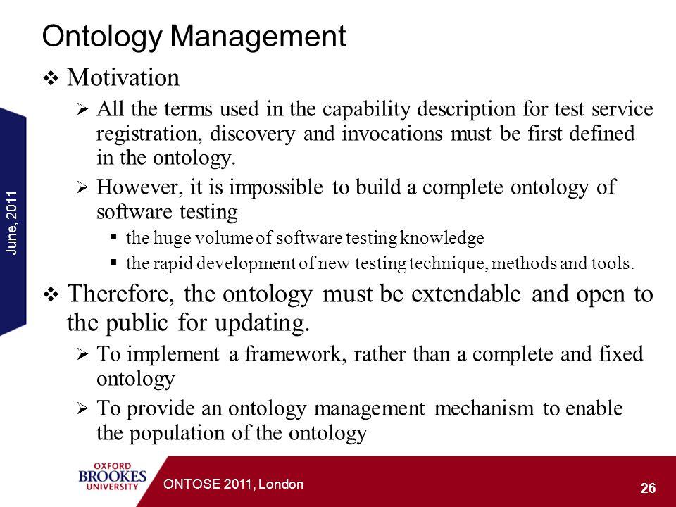 Ontology Management Motivation