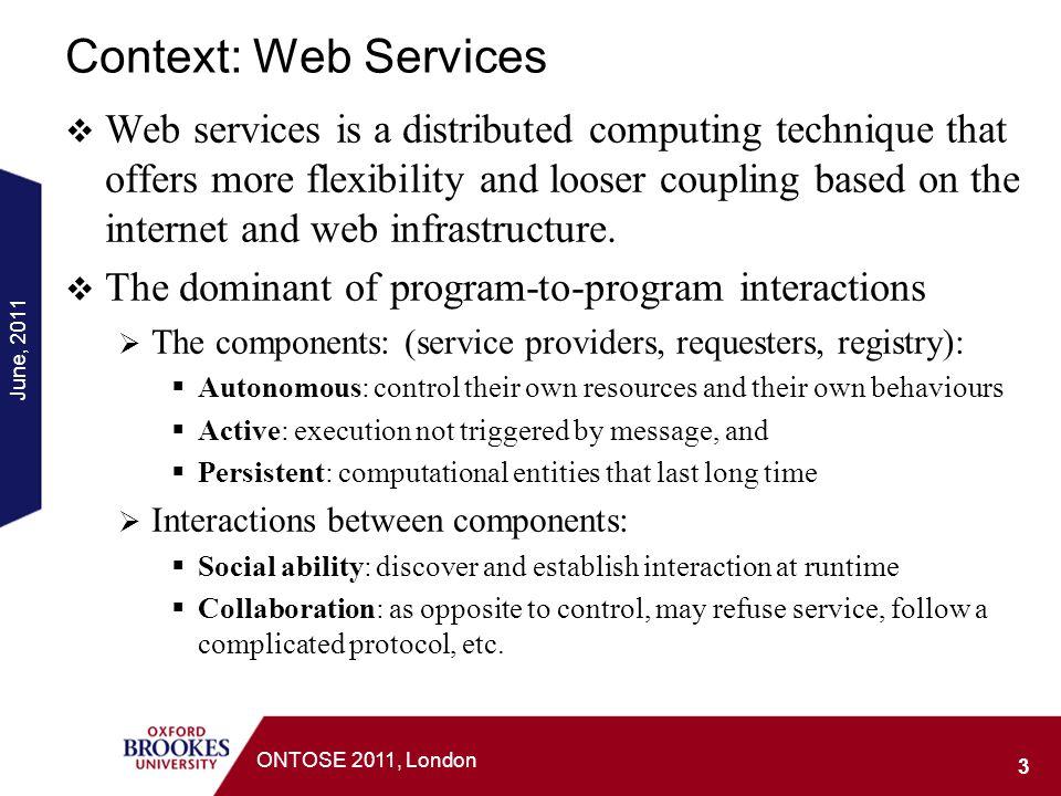 Context: Web Services
