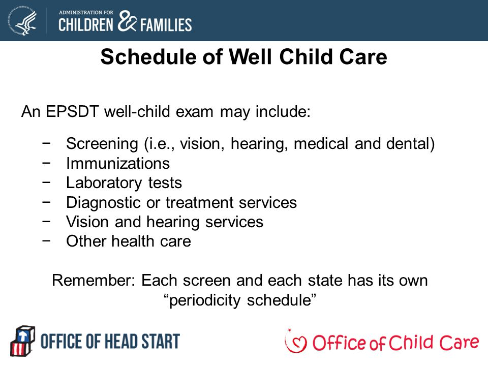 Schedule of Well Child Care