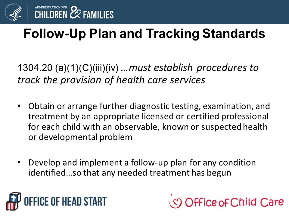 Follow-Up Plan and Tracking Standards