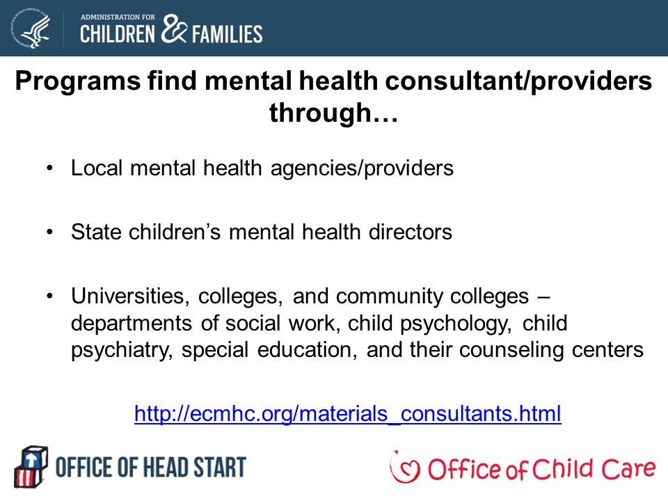 Programs find mental health consultant/providers through…